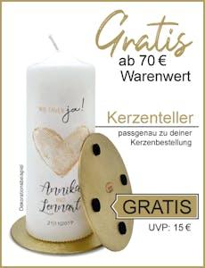 Teller für personalisierte Kerzen