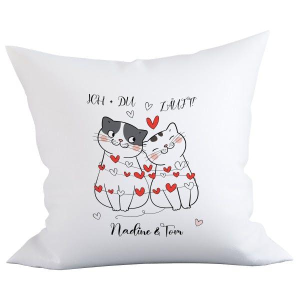 Katzen Paar Kissen 1