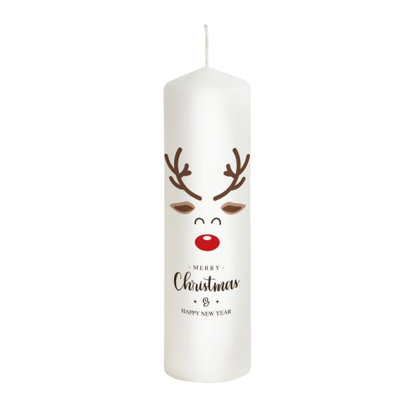 Weihnachtskerze Rudolf