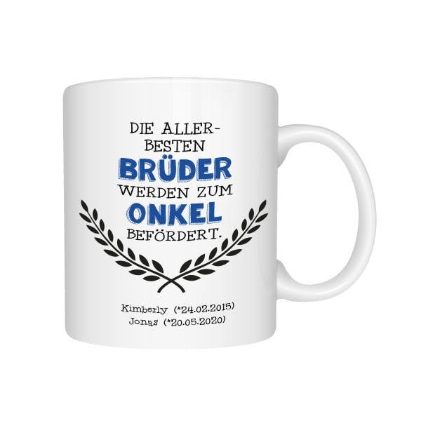 Personalisierte Tasse zum Onkel befördert 1